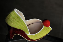 Multi sapata fêmea colorida do divertimento Foto de Stock