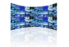 Multi schermo su bianco Immagini Stock Libere da Diritti