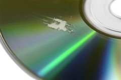 Multi scratched CD surface Stock Photography