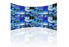 Multi screen on white Royalty Free Stock Images