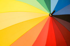 Multi sector colourful umbrella Stock Image