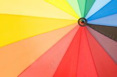 Multi sector colourful umbrella Stock Photos
