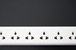 Multi sockets power extension Royalty Free Stock Image