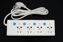 Multi sockets power extension with individual switches Stock Photography