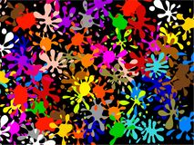 Multi Splatter Wallpaper Stock Photo