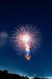 Multi Stage Fireworks Stock Image