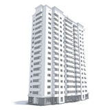 Multi-storey building vector illustration