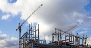 Multi-storey building under construction, Moscow, Russia Stock Photography