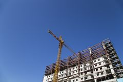 Multi-storey building under construction new residential complex, Moscow, Russia stock image