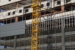 Multi-storey building under construction new residential complex, Moscow, Russia royalty free stock photo