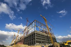 Multi-storey building under construction, Moscow, Russia Stock Images