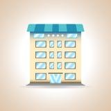 Multi-storey building. Vector illustration. Multi-storey building. House. Vector illustration Stock Photos
