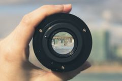 Multi-storey Buildings And Skyscrapers Through A Camera Lens - I Royalty Free Stock Image