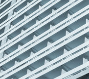 Multi-storey hotel fragment Royalty Free Stock Photo