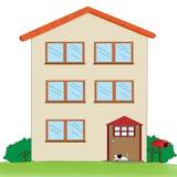 Multi-storey house royalty free illustration