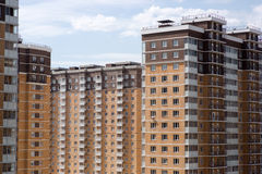 Multi-storey new house. New in the neighborhood in Moscow Royalty Free Stock Images