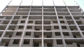 Multi-storey residential building under construction. Multi-storey residential building under construction stock footage