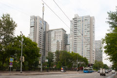 Multi-storey residential buildings in Moscow 13.07.2017 Stock Photo