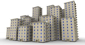 Multi-storey residential houses Royalty Free Stock Photos