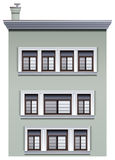 A multi-story building. Illustration of a multi-story building on a white background Stock Images