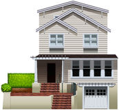 A multi-story house. On a white background Stock Photography