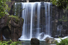 Multi-streaming waterfall. Water, rocks and trees Royalty Free Stock Photography