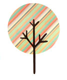 A multi striped tree cut out Stock Photo