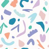 Multi sumário aleatório formas cortadas coloridas ilustração do vetor