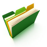 Multi-Tab Folder (3D rendering). A stylized colorful folder with three tabs (3D rendering, includes a clipping path Stock Images
