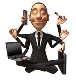 Multi-tasking. Business man Multi-tasking, 3d generated vector illustration