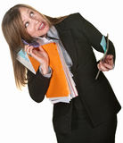 Multi-tasking Business Lady Stock Photo