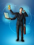 Multi-tasking businessman Royalty Free Stock Images