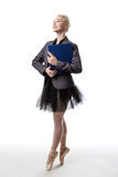 Multi-tasking dancer Royalty Free Stock Photo