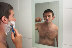 Multi-tasking male Stock Images