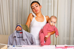Multi-tasking mother Royalty Free Stock Photography