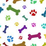 Multi teste padrão colorido da pata Imagens de Stock