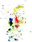 Multi textura colorida dos acrílicos Fotos de Stock