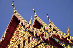 Multi-tier roofs at Thai temple Stock Photos