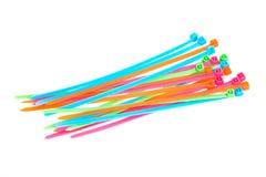 Multi tiras coloridas do plástico Fotografia de Stock Royalty Free