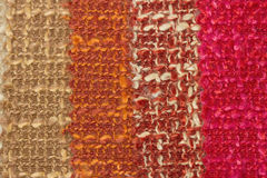 Multi tone of wool fabric  for sample background. Royalty Free Stock Photography