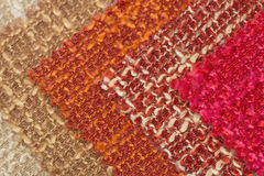 Multi tone of wool fabric  for sample background. Stock Photo