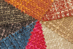 Multi tone of wool fabric texture sample Stock Images