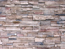 Multi-toned Decorative Stone Wall stock photos
