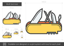 Multi tool line icon. Royalty Free Stock Images