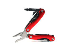 Multi tool pliers with red handles Royalty Free Stock Image