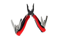 Multi tool pliers with red handles Royalty Free Stock Photos