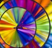Multi tornitura colorata della girandola Fotografie Stock