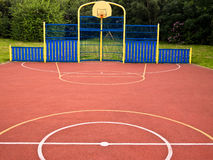 Multi Use Sports Activity Games Area. Multi use games area (MUGA) and sports ground, with lines and circles marked for a variety of physical exercise activities Royalty Free Stock Image
