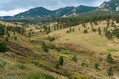 Multi use trail in valley near Flat Irons Royalty Free Stock Images