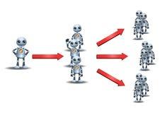 Multi vendita livellata dei piccoli robot illustrazione vettoriale